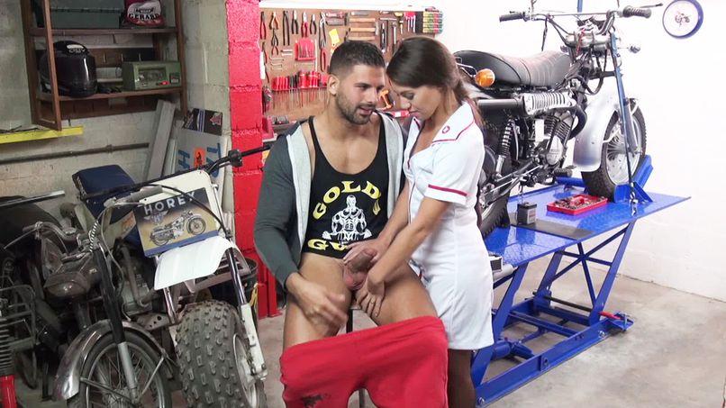Tiffany participates in a scenario where she plays a very slutty nurse! - Tonpornodujour.com
