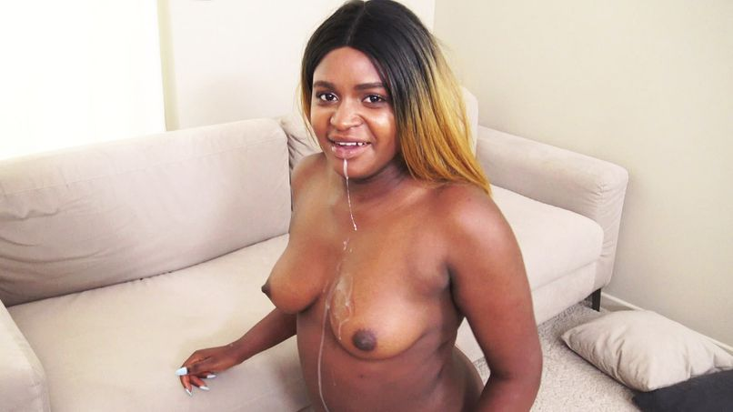 Sarah's handsome ass, beautiful 23-year-old slutty blackette, can't resist our guy's furia! - Tonpornodujour.com