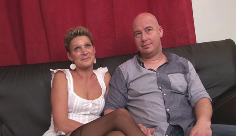 Gangbang for Soisic, a blonde slut who will be caught by lascars under the eyes of her husband! - Tonpornodujour.com
