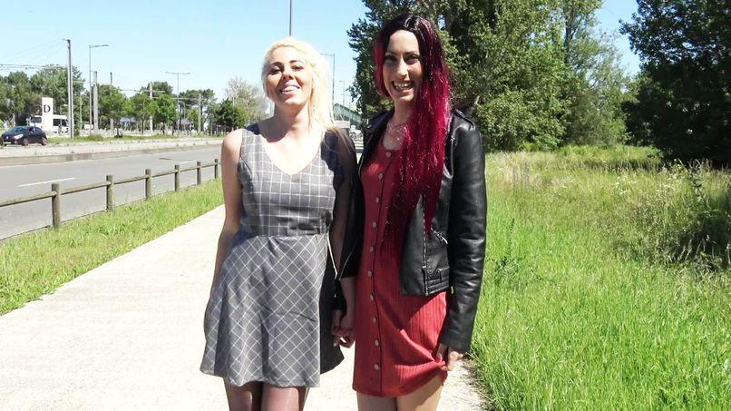 Carlie and Aude, two very slutty beautiful lesbians having fun in Bordeaux! - Tonpornodujour.com