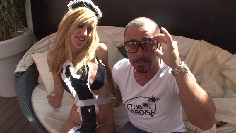 A deep sodomy for our friend Fino and this very slutty maid! - Tonpornodujour.com