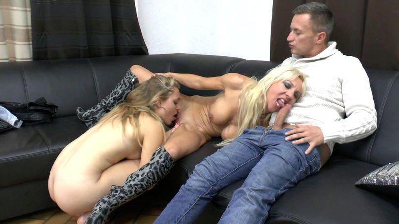 Thérèse and Sindy, two blonde sluts who love deep sodomy! - Tonpornodujour.com