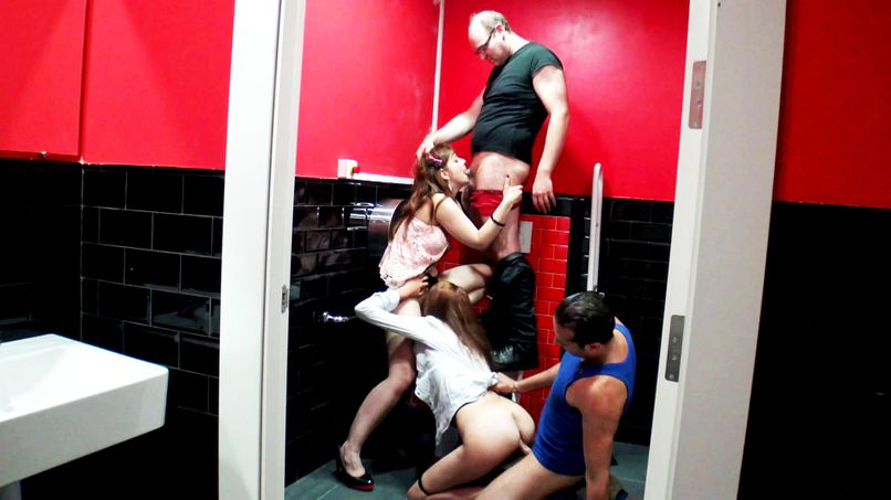 A group anal session in a bistro - Tonpornodujour.com